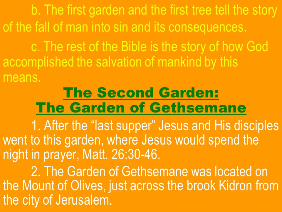 CONCLUSION Will you let the story of the Garden of Gethsem- ane and Jesus' death of the cross motivate you to take advantage of God's offer to save you.