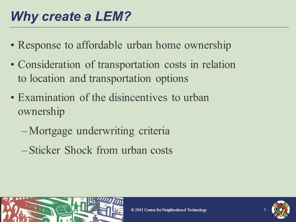 © 2001 Center for Neighborhood Technology Median Household Spending