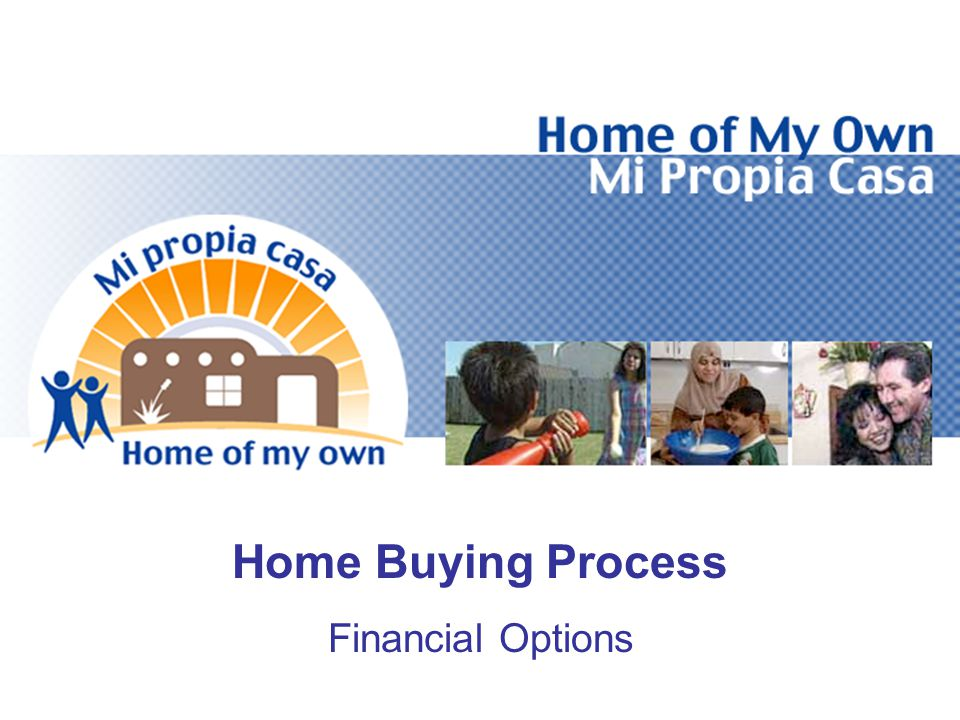 Home Buying Process Financial Options