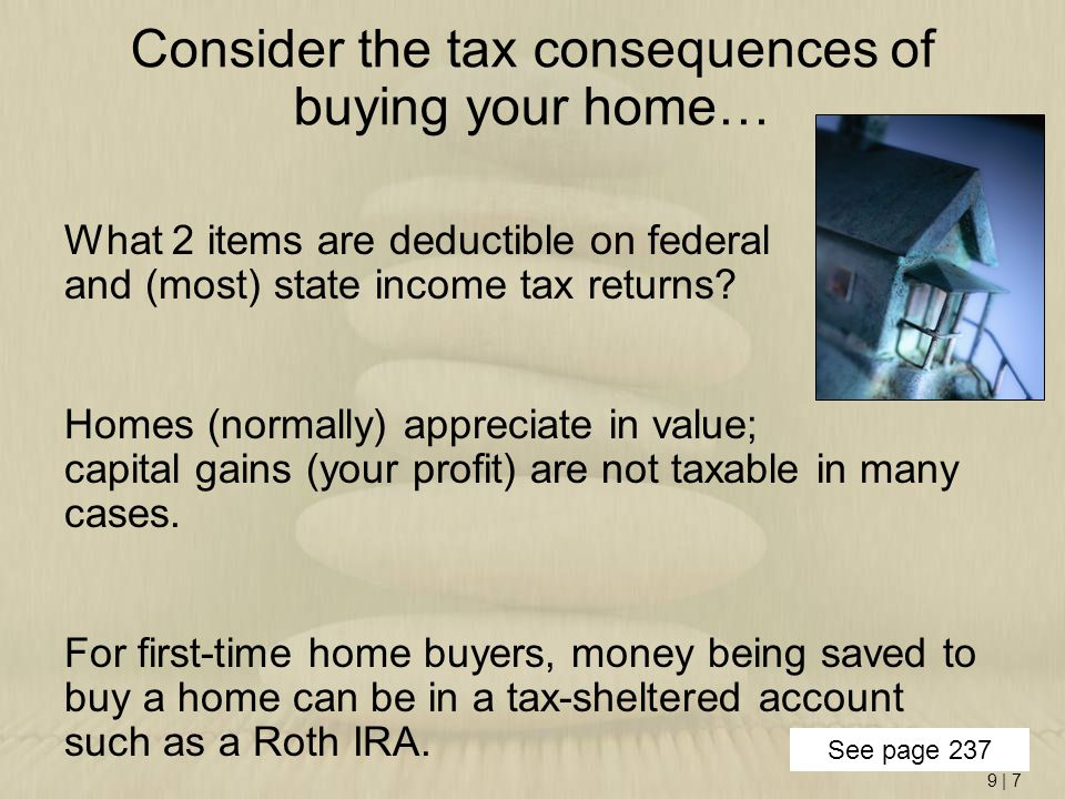 9 | 8 Points –A way for homebuyers to buy down the interest rate on their loan –1 point = 1% of the total mortgage loan amount –Homebuyer pays for points at closing –Lender receives money upfront as compensation for offering a lower rate –When does it make sense for a buyer to do this?