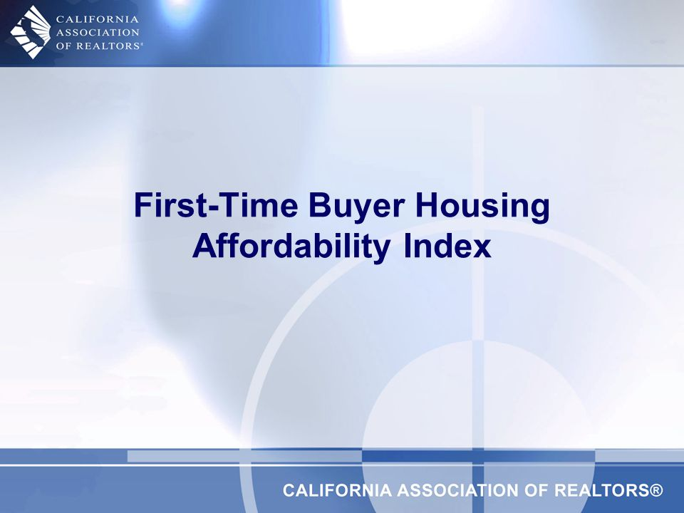 First-Time Buyer Housing Affordability Index