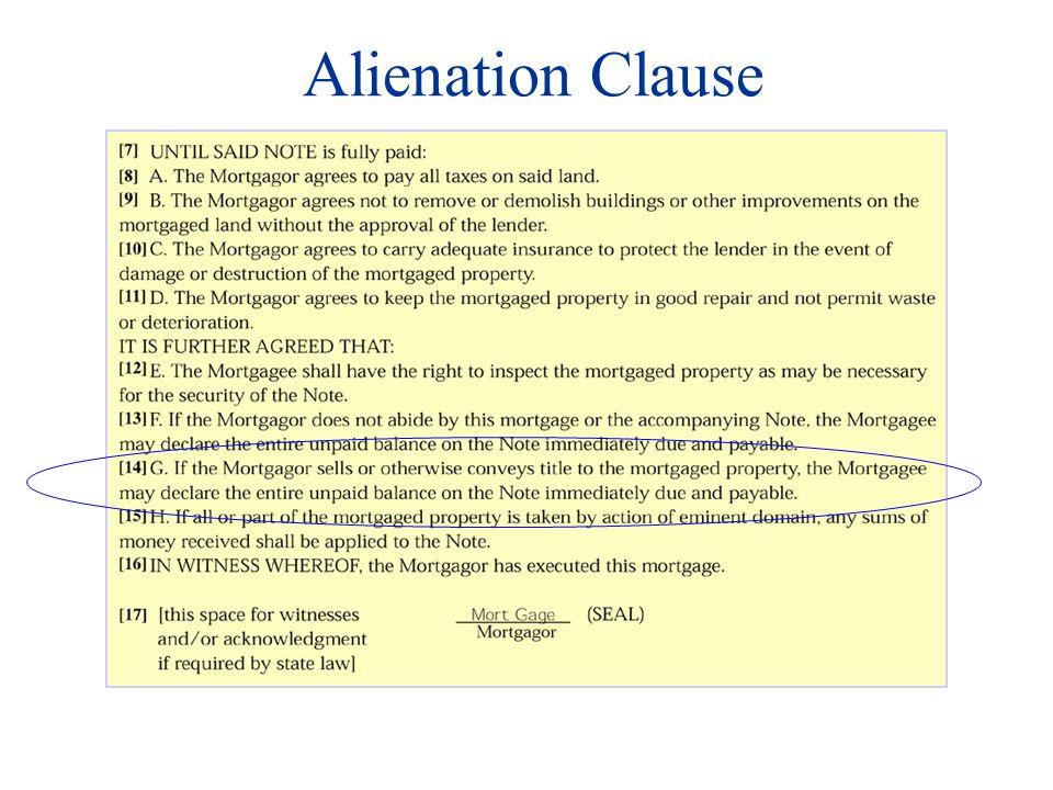 Alienation Clause
