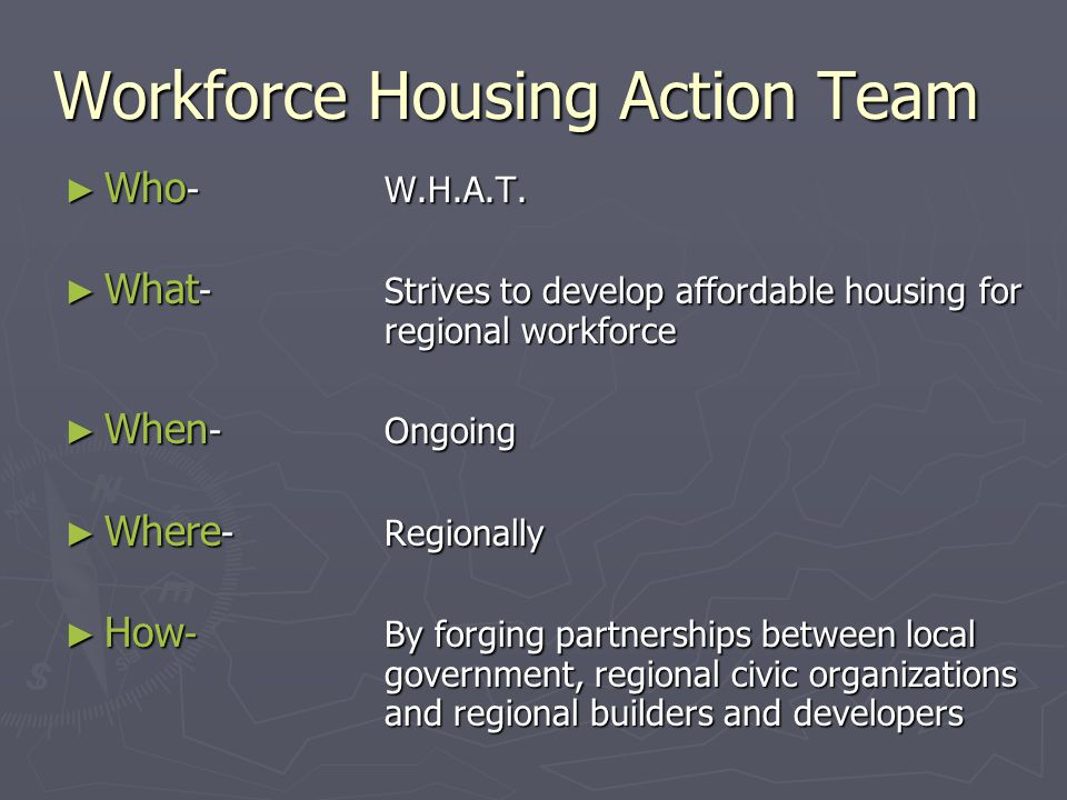 Housing Facts ► This employee could not purchase any home within PD 16.