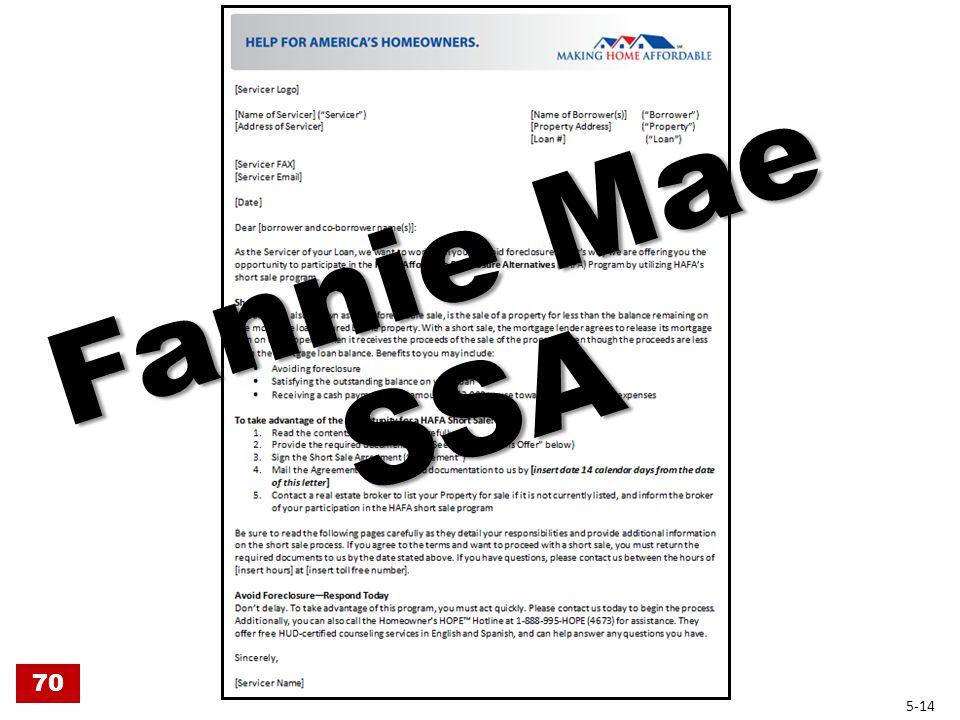 Fannie Mae SSA 70 5-14