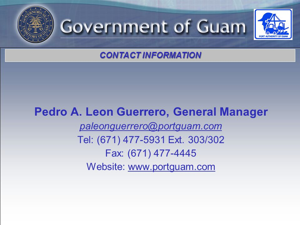 CONTACT INFORMATION Pedro A.