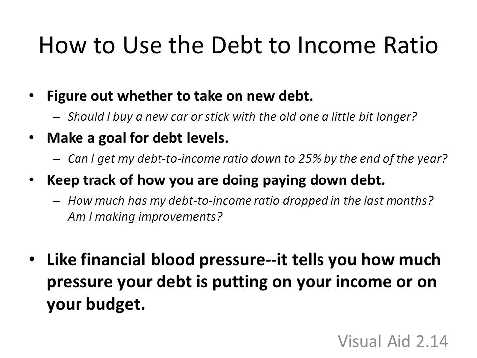 How to Use the Debt to Income Ratio Figure out whether to take on new debt.