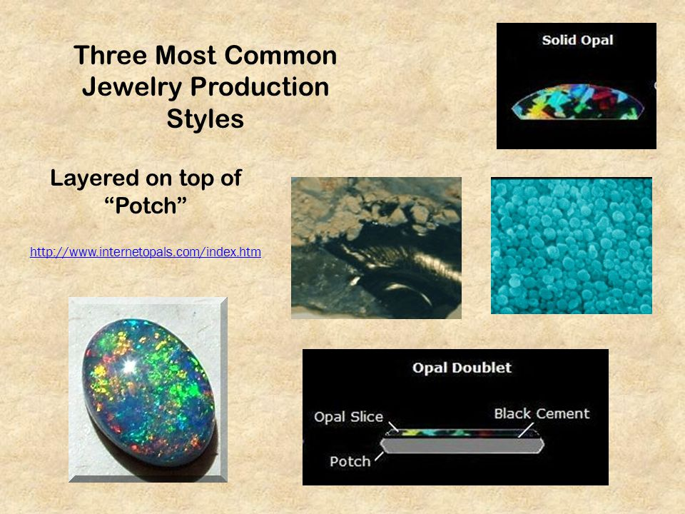 Three Most Common Jewelry Production Styles Layered on top of Potch http://www.internetopals.com/index.htm