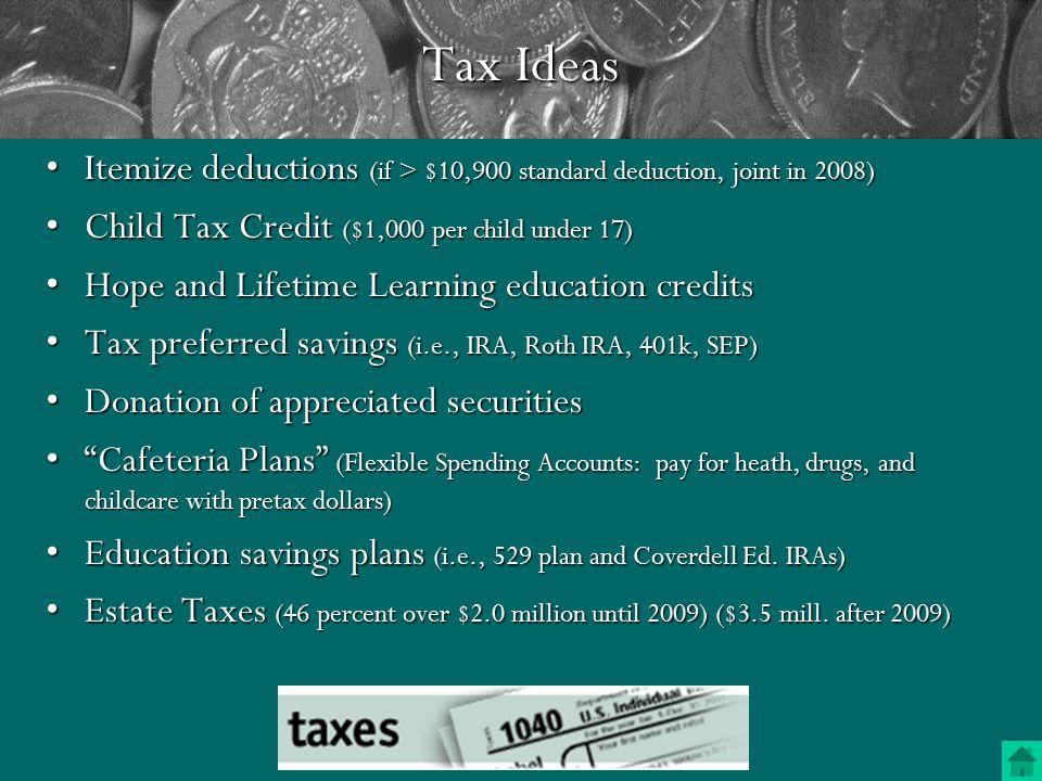 Tax (Credit vs.
