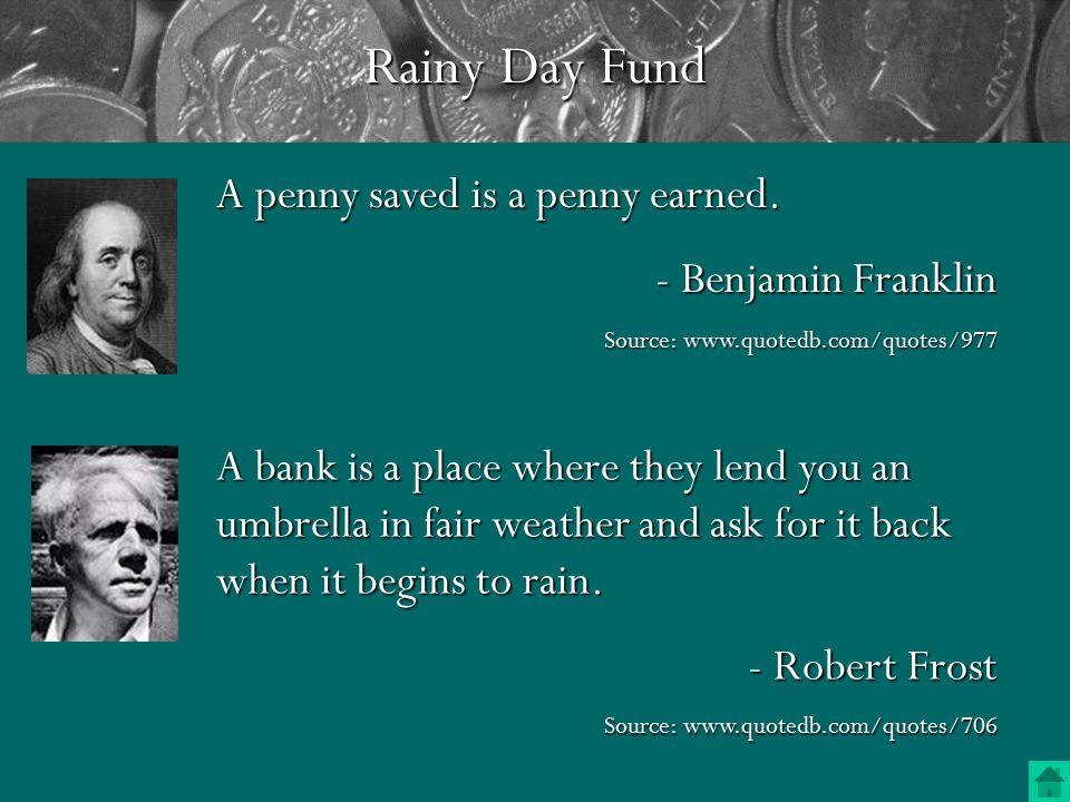 Rainy Day Fund—How Much.