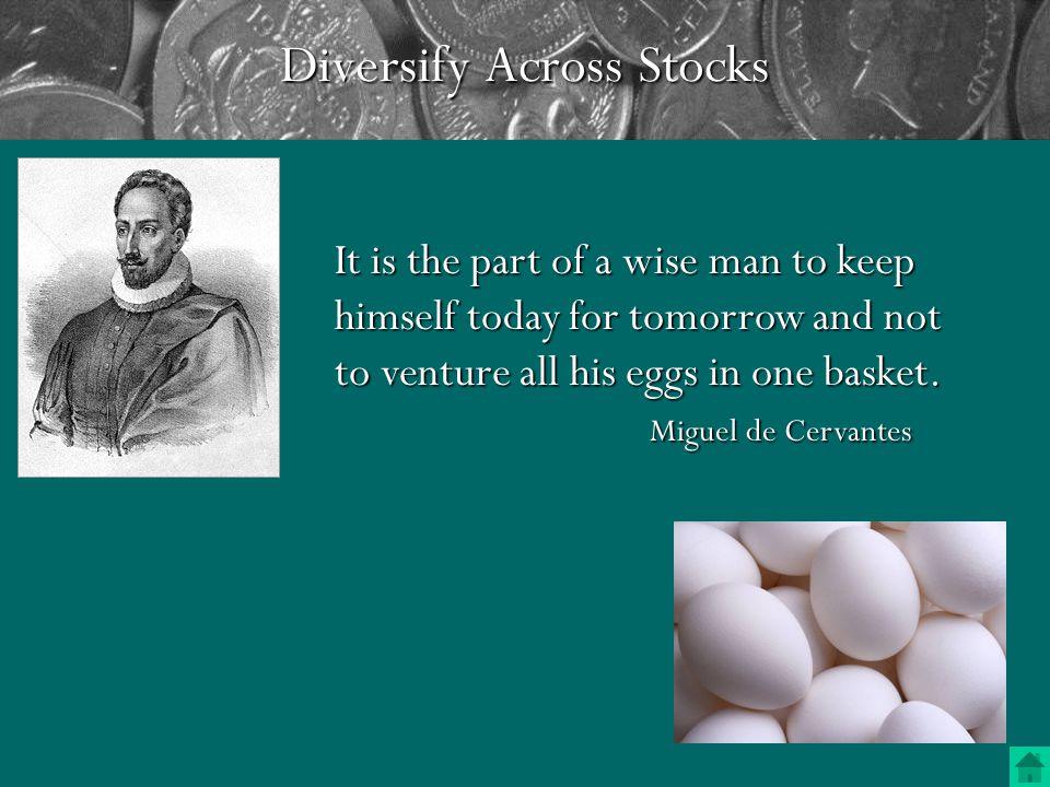 Managing Stock Risk 1. Diversity Across Stocks 2.