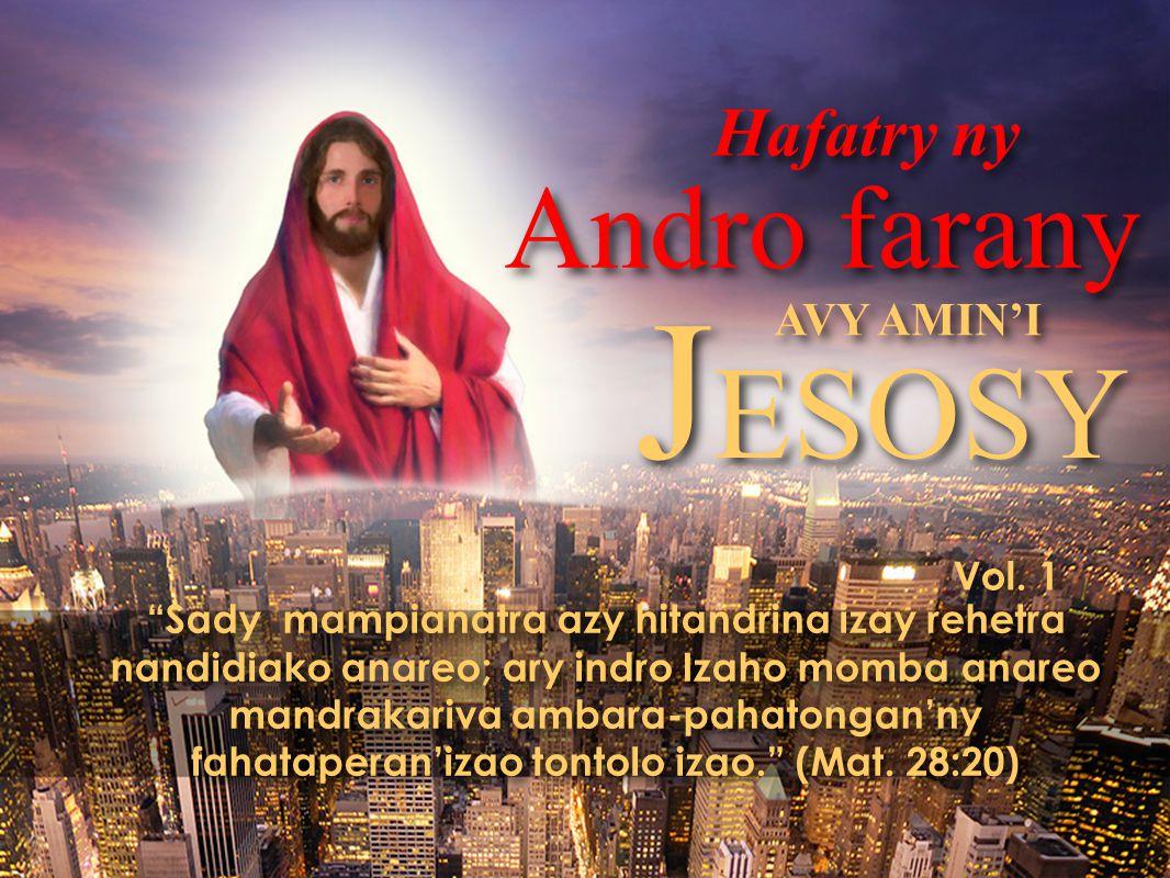 … Ary izay nitaingina azy dia navela hanaisotra ny fihavanana amin'ny tany, … Apokalypsy 6:3, 4