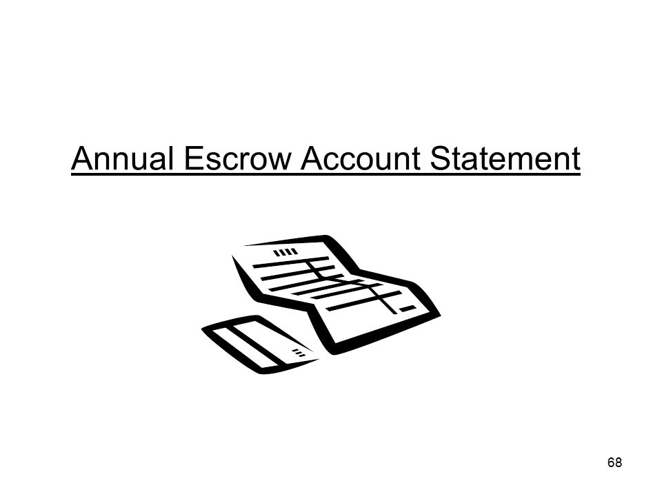 68 Annual Escrow Account Statement