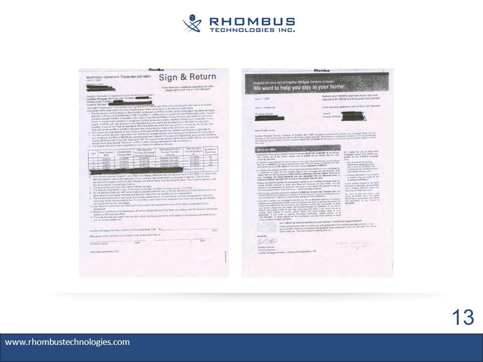 www.rhombustechnologies.com 13