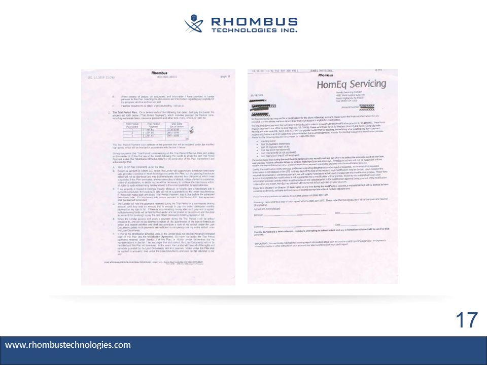 www.rhombustechnologies.com 17