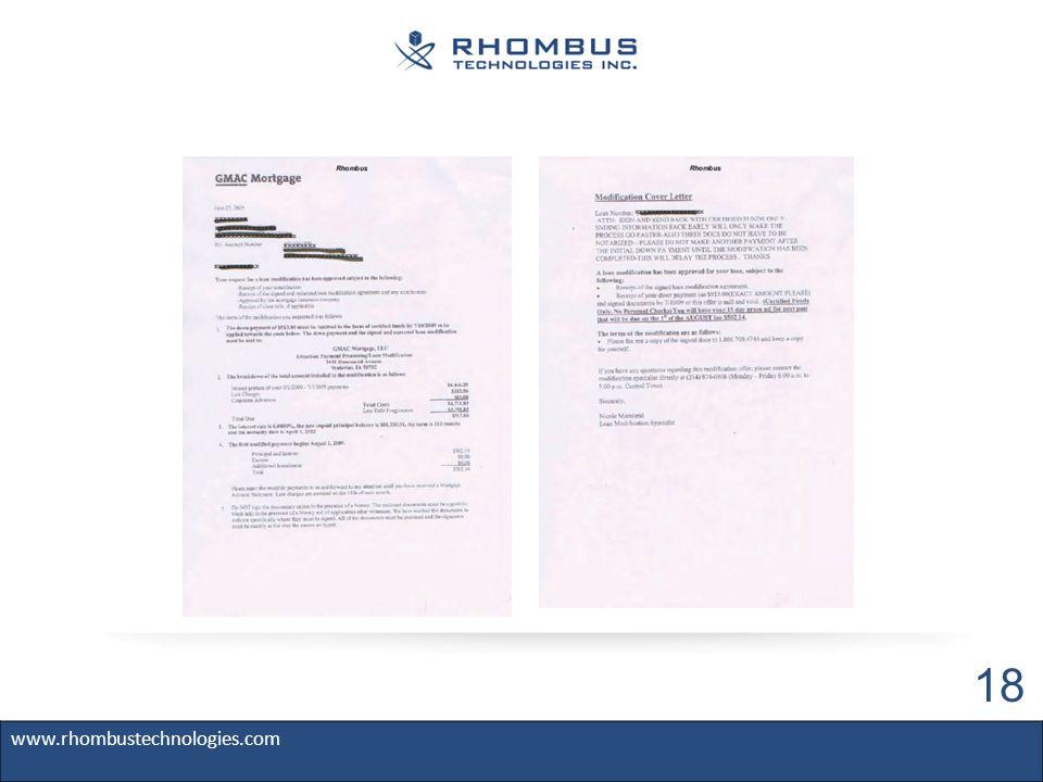 www.rhombustechnologies.com 18