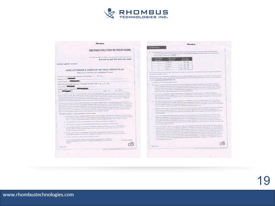 www.rhombustechnologies.com 19