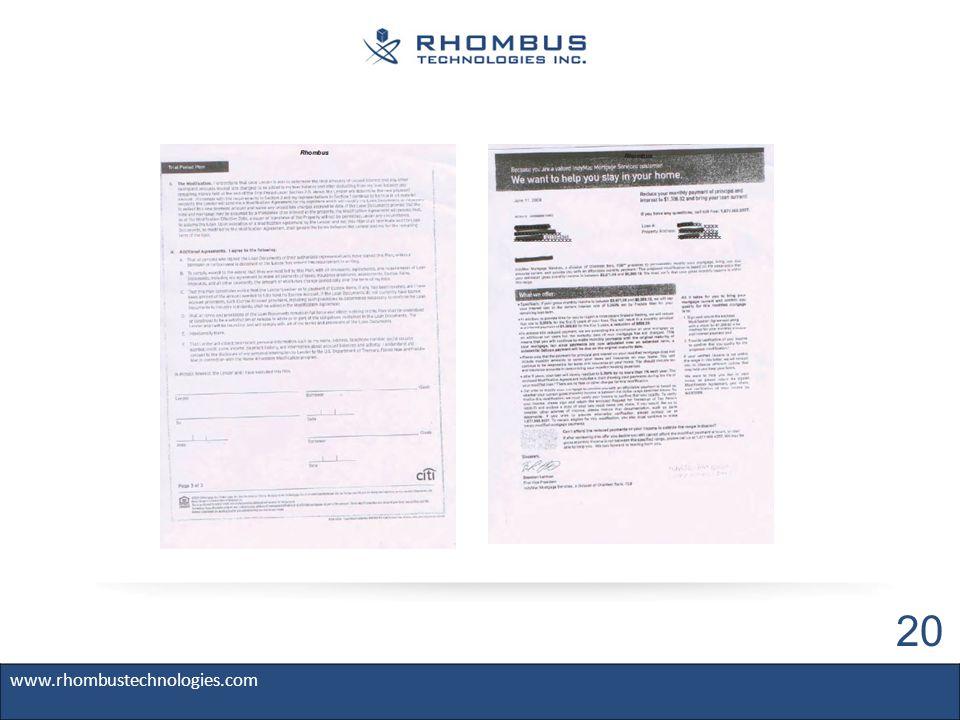 www.rhombustechnologies.com 20