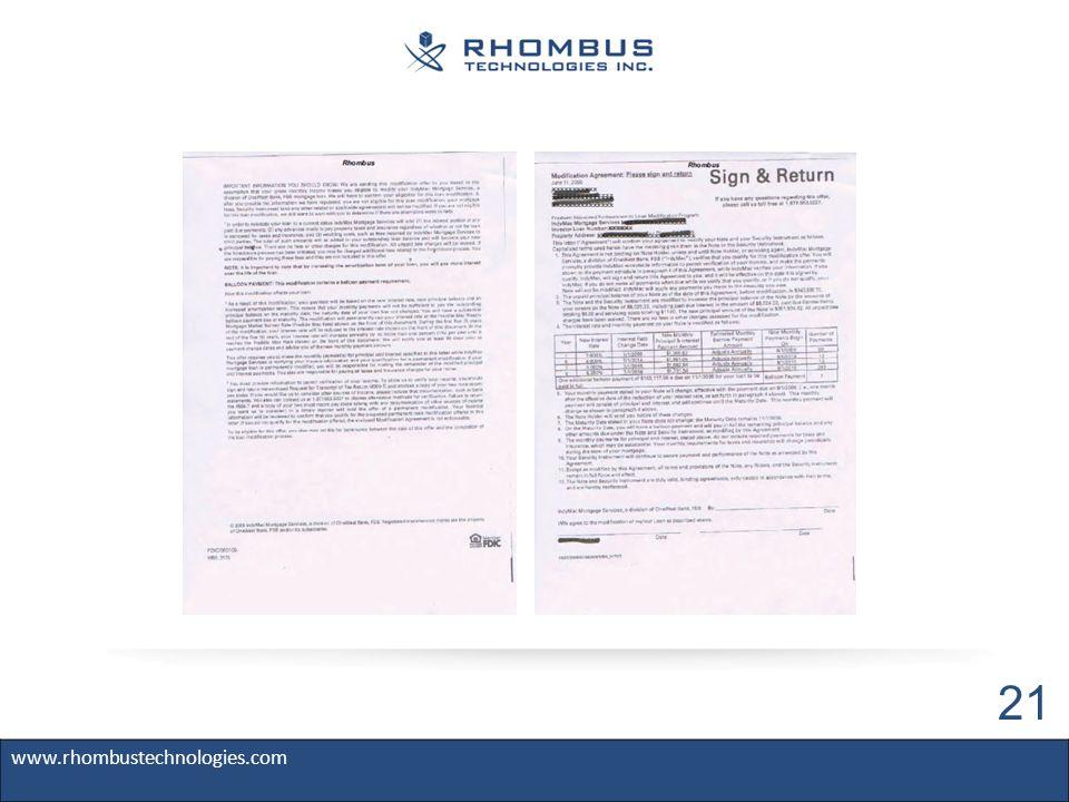 www.rhombustechnologies.com 21