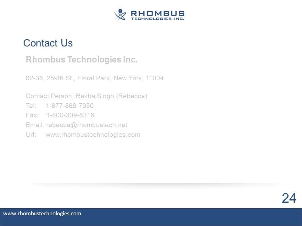 Contact Us Rhombus Technologies Inc.