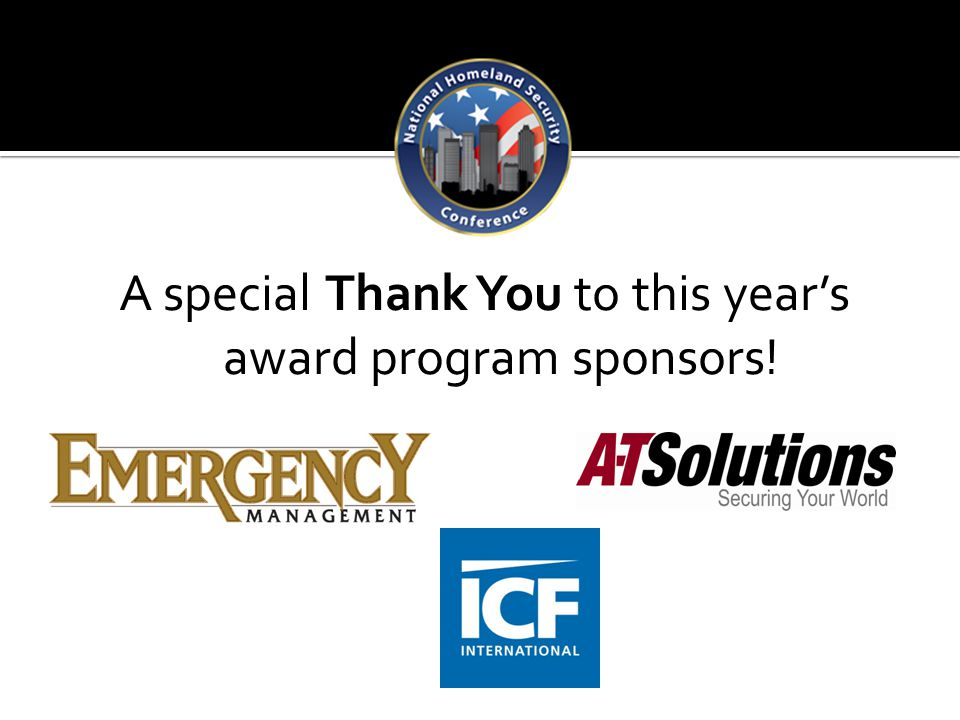 A special Thank You to this year's award program sponsors!