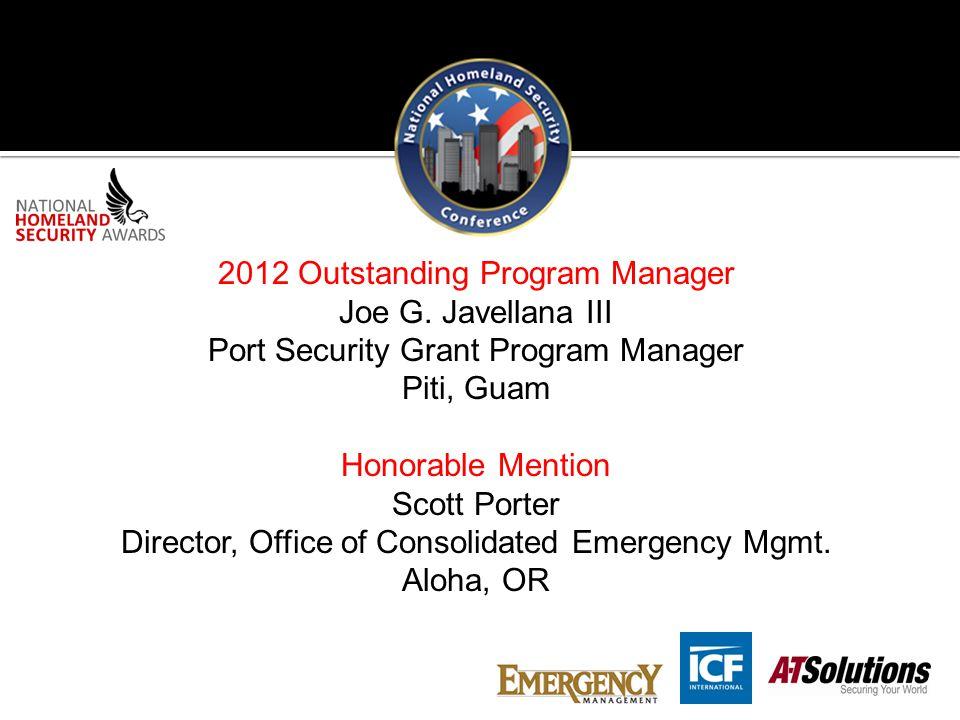 2012 Outstanding Program Manager Joe G.