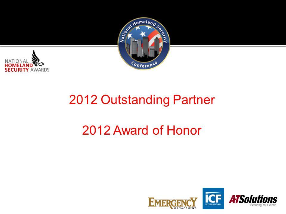 2012 Outstanding Partner 2012 Award of Honor