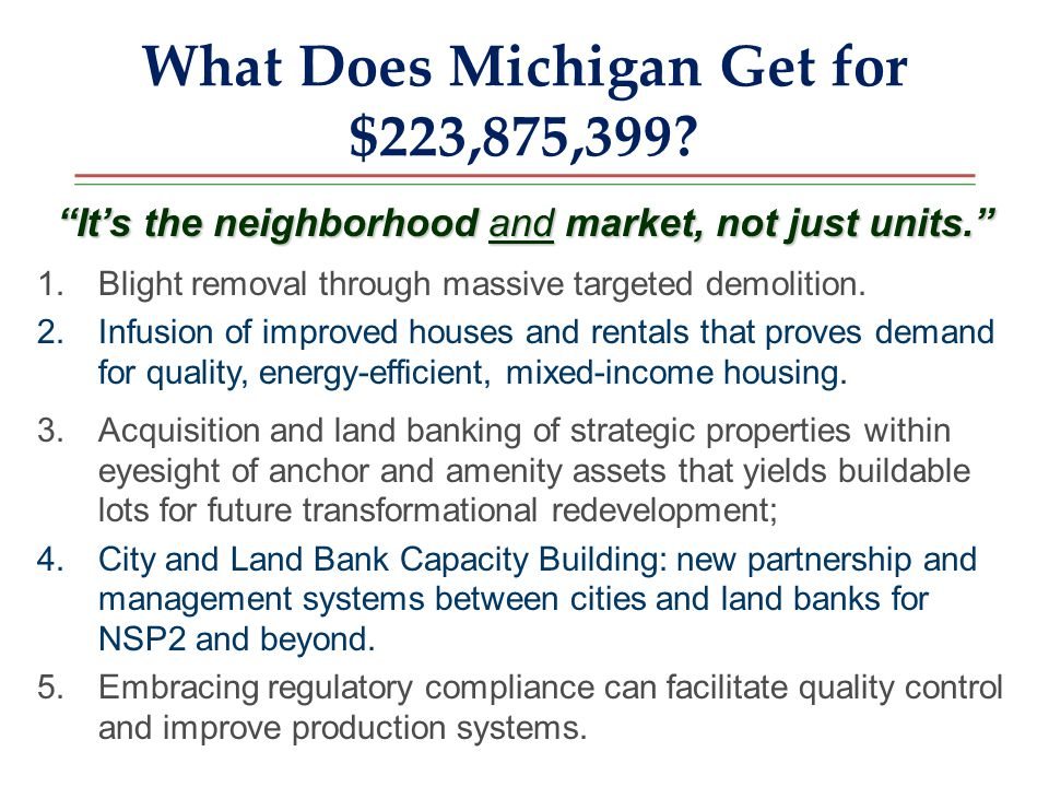 What Does Michigan Get for $223,875,399.