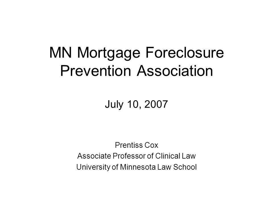 Foreclosure and Subprime Lending 1.Foreclosure Rates 2.Causes and Concerns A.Mortgage Practices B.Subprime Lending C.Alt-A Lending D.Non-Owner-Occupied Lending 3.Consequences A.Individuals B.Communities 1.Geographic Concentration 2.Foreclosure and Vacancy C.Financial Markets