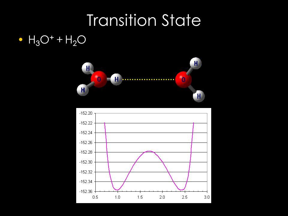Transition State H 3 O + + H 2 O