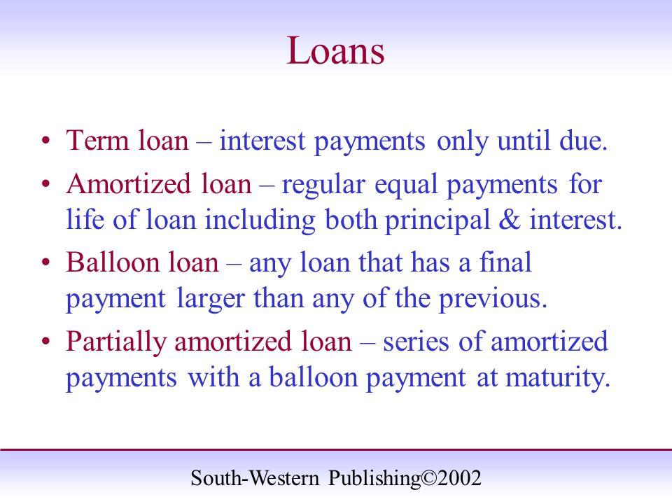 South-Western Publishing©2002 Repaying a 6-year, $1,000 Loan