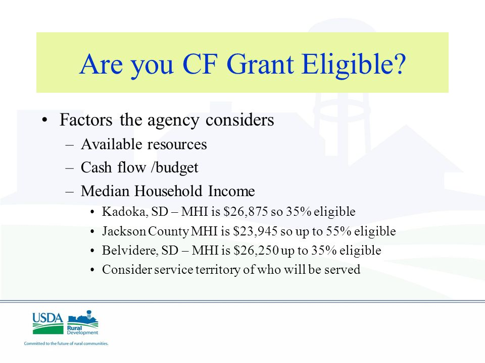 Are you CF Grant Eligible.