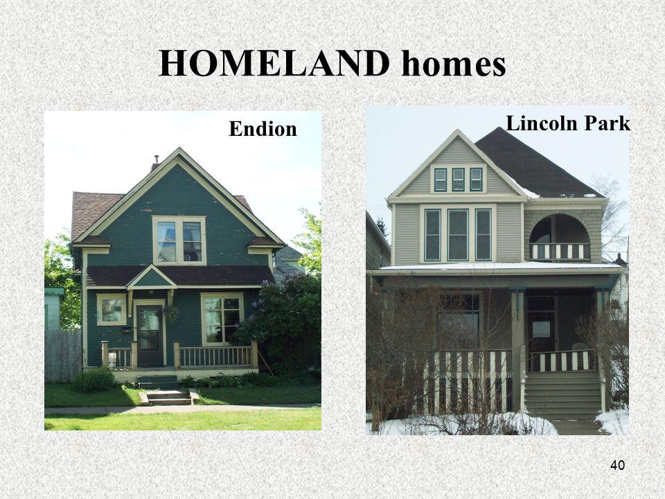 40 HOMELAND homes Lincoln Park Endion