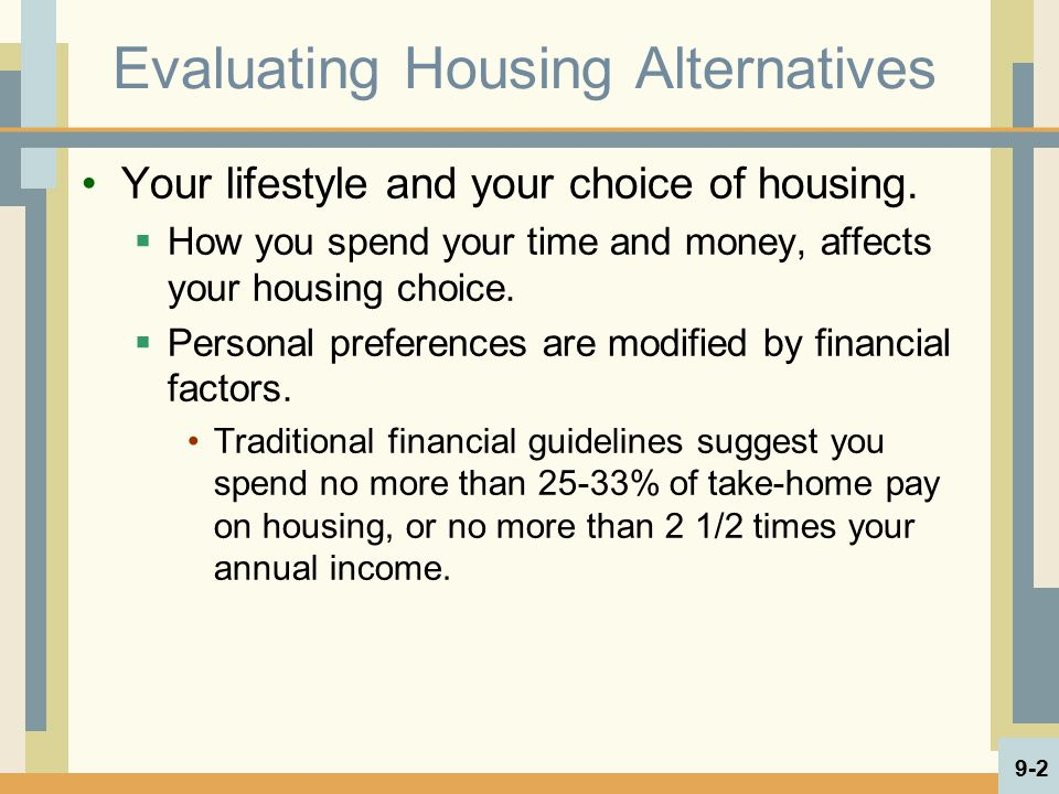 Assess Types of Housing Than Can be Purchased  What assurance do you have about quality.