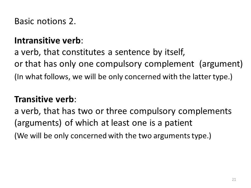 Basic notions 2.