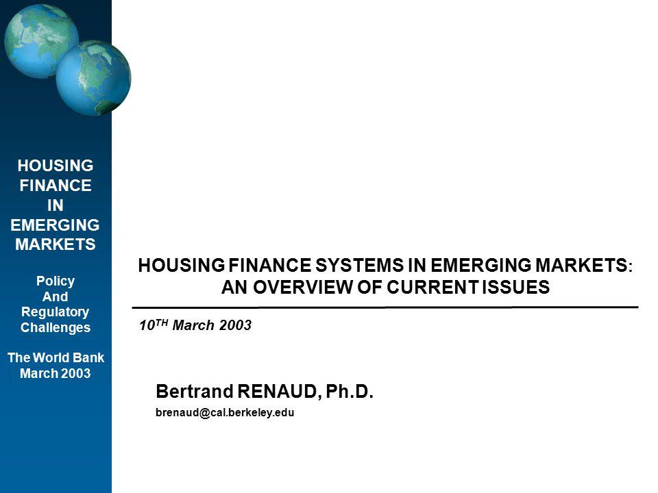 © Bertrand RENAUD.World Bank Seminar.