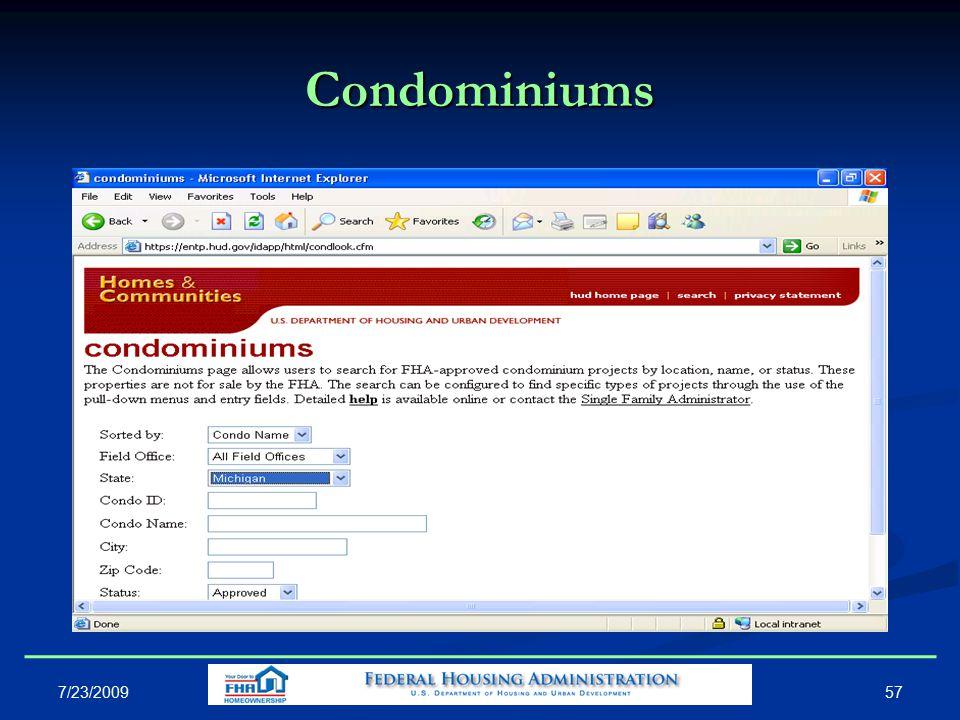 Condominiums 57 7/23/2009