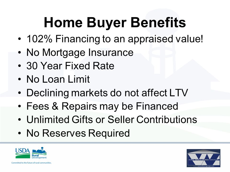 Rate and Term 30-Year Fixed Interest Rate Set by Approved Lender –Not higher than the 30-year, 90-day actual/actual Fannie Mae rate plus 60 basis points - Or - –Lender's Published VA rate One-Time GRH Fee –2.00% Purchase –.5% Refinance