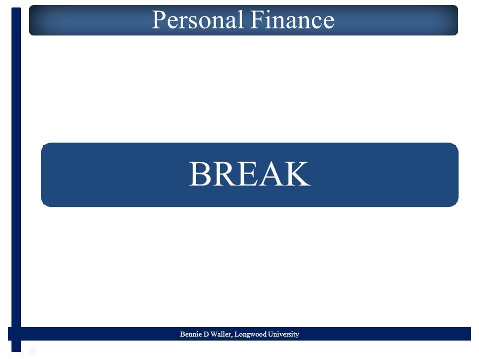 Bennie D Waller, Longwood University Personal Finance BREAK