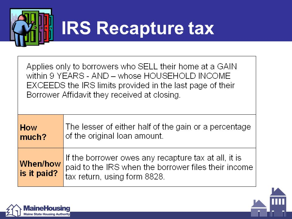 IRS Recapture tax