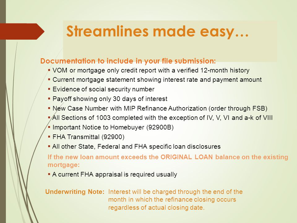 What is a Streamline Refinance.