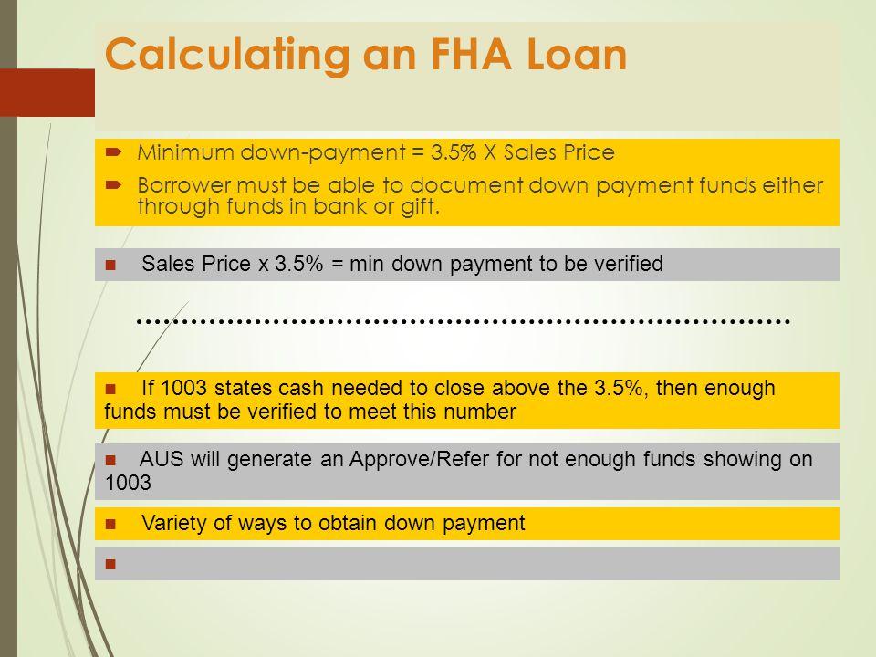 Calculating an FHA FHA Loan