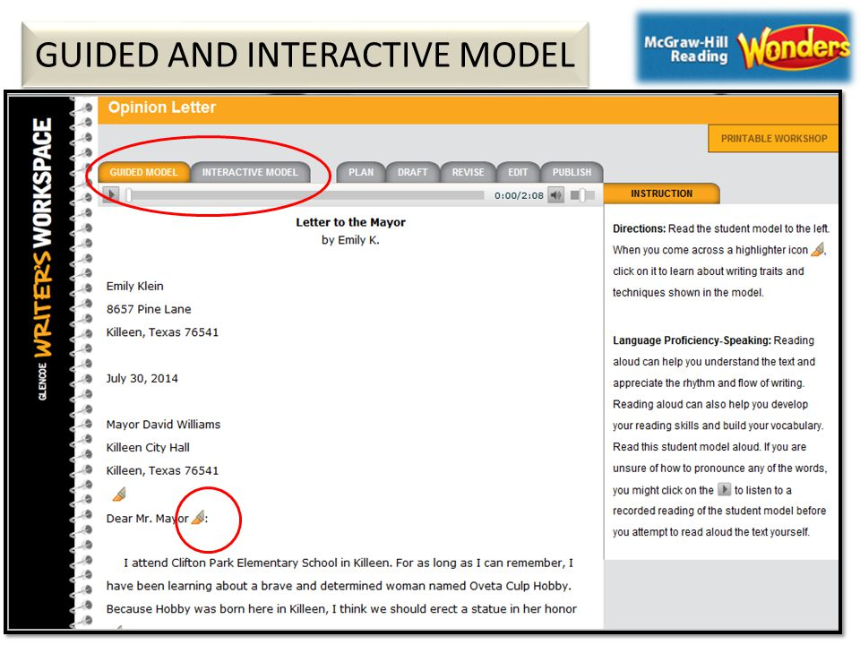 GUIDED AND INTERACTIVE MODEL