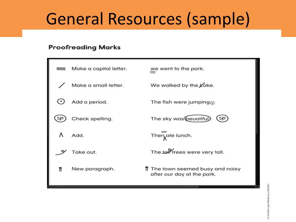 General Resources (sample)
