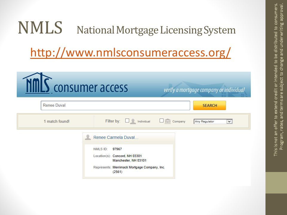 Federal Regulations In 2014 mortgage lenders implemented new rules Qualified Mortgages Protect Homebuyers Protect Lenders Ability to Repay Follow guidelines already established May restrict debt ratio to 43% in some cases This is not an offer to extend credit or intended to be distributed to consumers.