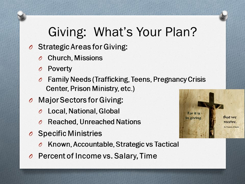 Giving: What's Your Plan.