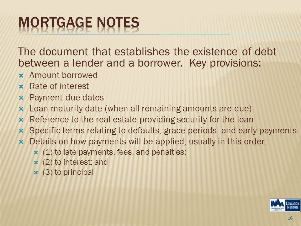 The document that establishes the existence of debt between a lender and a borrower.