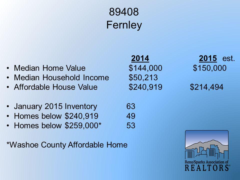 89408 Fernley 2014 2015est.
