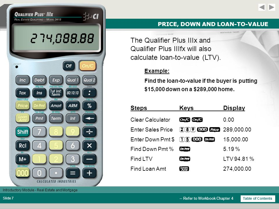 Introductory Module - Real Estate and Mortgage Slide 17 AMORTIZATION The mortgage interest deduction is computed on the sixth press of , after entering the amortization period.
