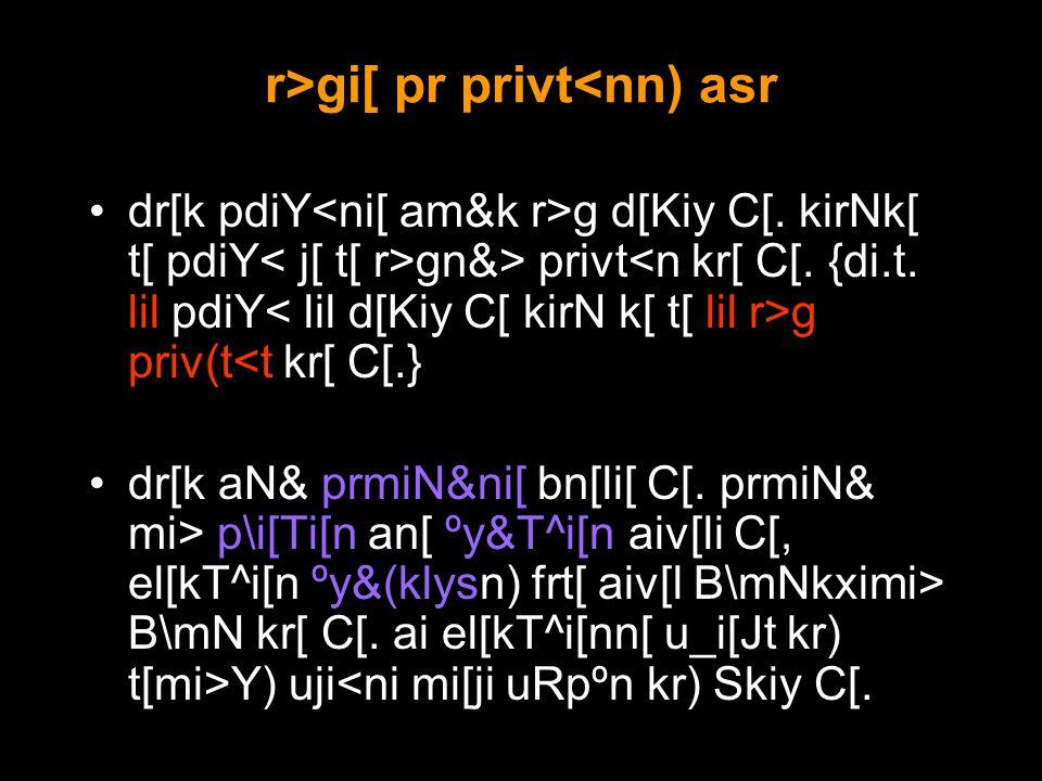 r>gi[ pr privt<nn) asr dr[k pdiY g d[Kiy C[.