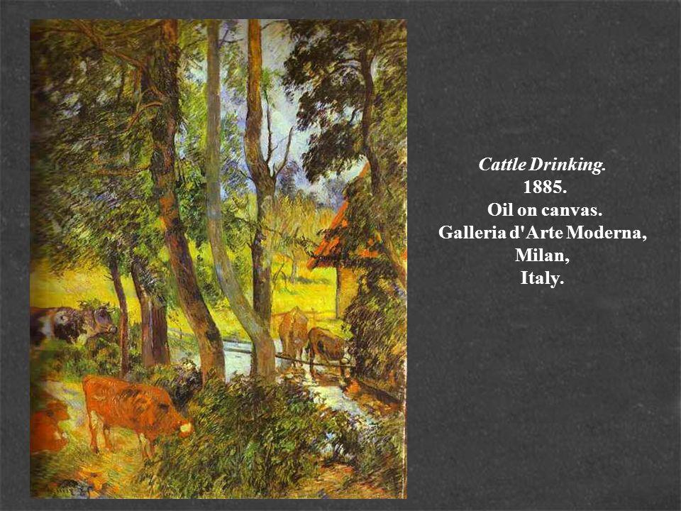 Cattle Drinking. 1885. Oil on canvas. Galleria d'Arte Moderna, Milan, Italy.